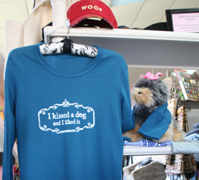 Soft, nicely cut tee shirts from One Lucky Dog, St. Petersburg.