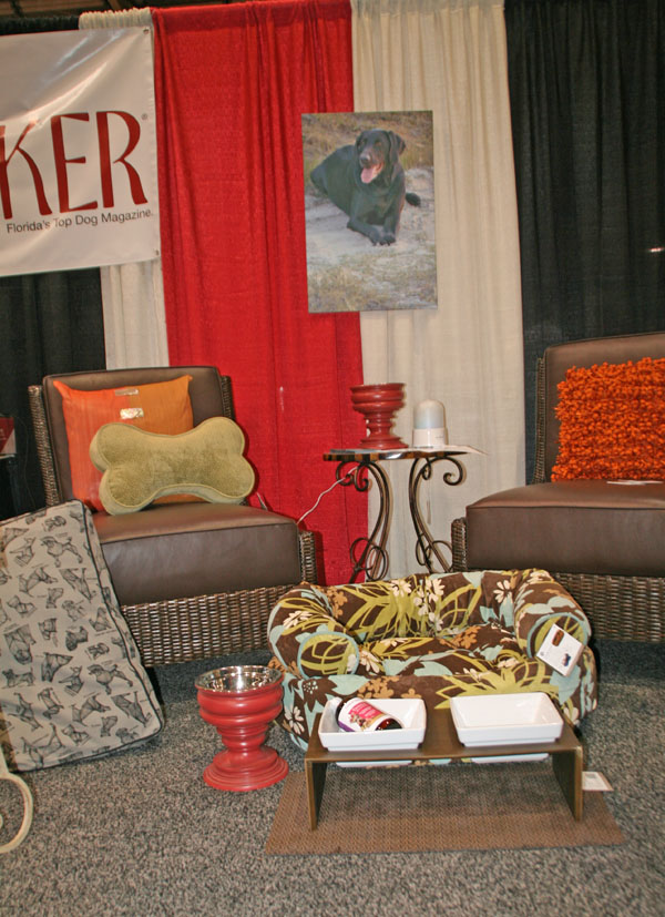 Home Sweet Dog Home. The New Barker booth during the Spring Home Show and Adoption Fling featured products by Bowsers Pet Products.