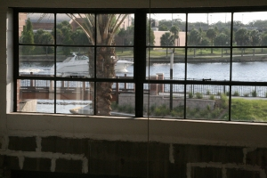 Looking out onto the Hillsborough River from inside Ulele.
