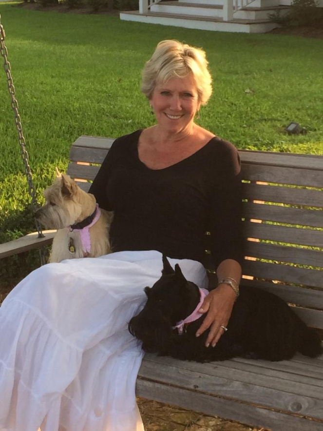 Today: Nikki and Miley, her Cairn Terrier and Stella. Both greet guests at the Inn.