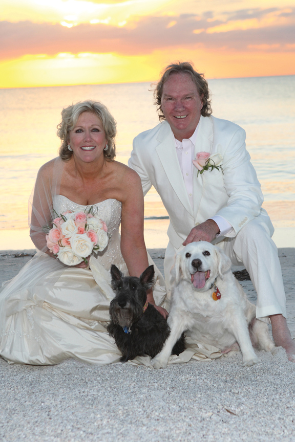 Over the Moon. Wedding at the Don Cesar with their dogs in attendance.