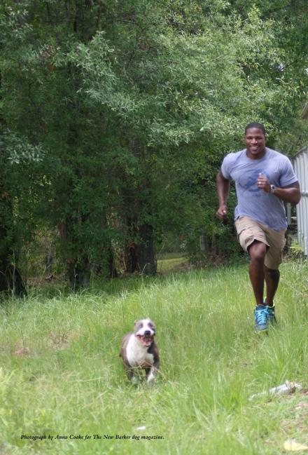 Yogi sprints ahead of Kamerion.